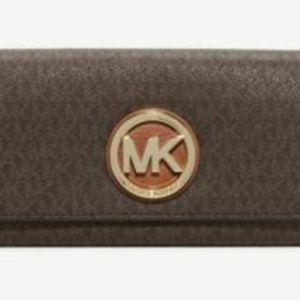 Michael Kors Fulton Signature Carryall Flap Wallet
